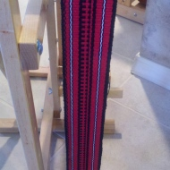 RED/BLACK GUITAR STRAP
