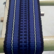 BLUE/BLACK GUITAR STRAP